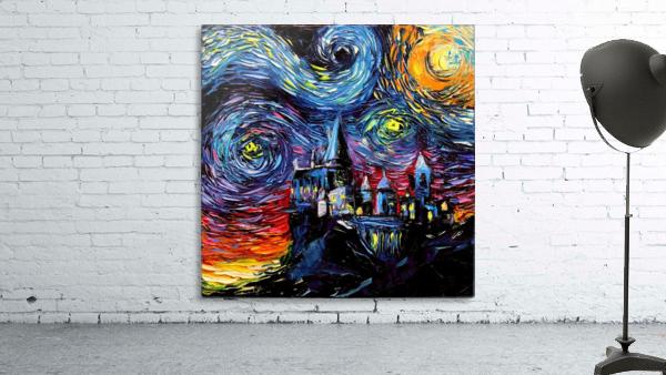 Castle Starry Night print van Gogh parody