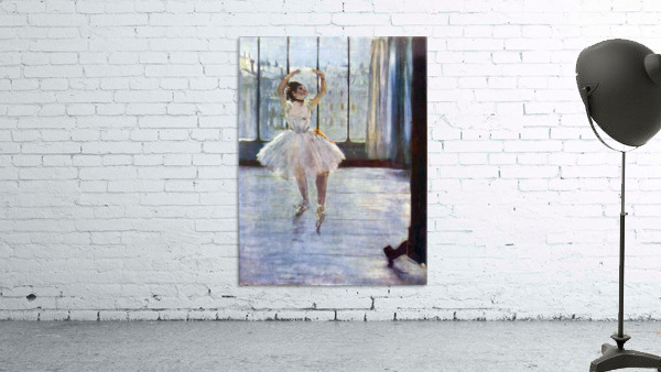 Dancer being photographed by Degas