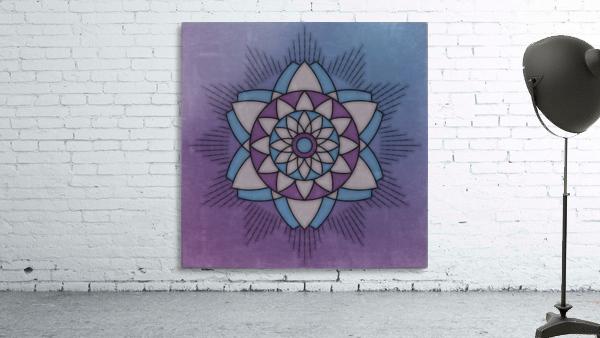 Simple Vintage Glow Mandala Solid