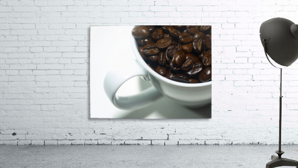 Coffee Beans in white mug