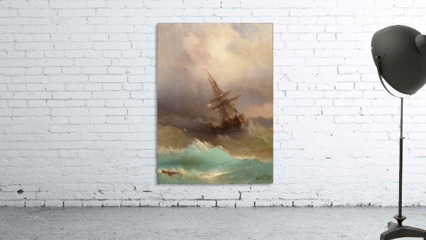 Ship in the Stormy Sea