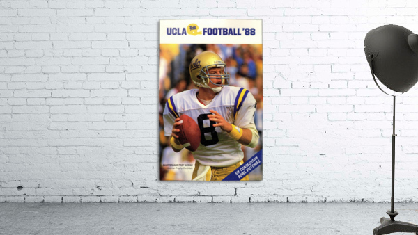 1988 Troy Aikman UCLA Football Poster