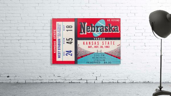 1962 Kansas State vs. Nebraska Cornhuskers Ticket Stub