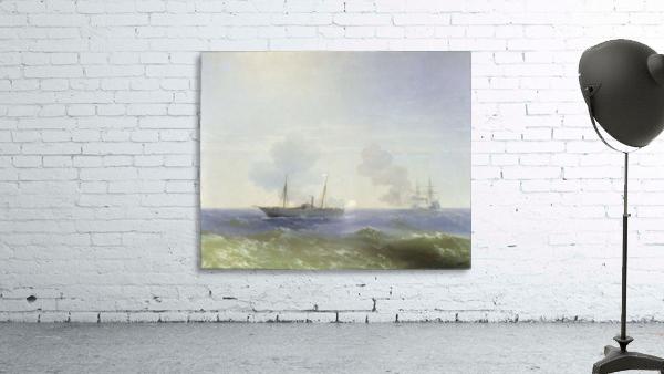 Battle of steamship Vesta and Turkish ironclad