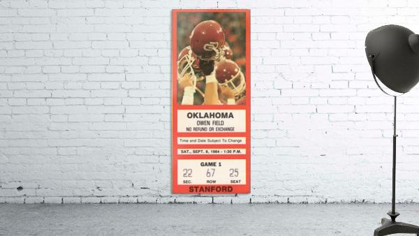 1984_College_Football_Oklahoma vs. Stanford_Owen Field_Row One