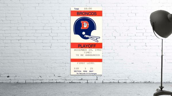 1983 Denver Broncos Football Ticket Stub