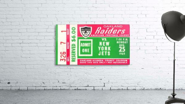 1969 New York Jets vs. Oakland Raiders Ticket Stub