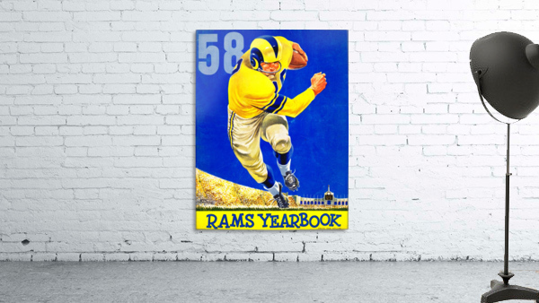 1958 LA Rams Football Yearbook Cover Art