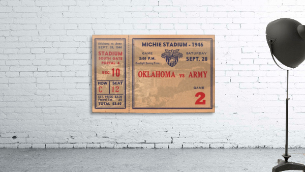1946_College_Football_Oklahoma vs. Army_Michie Stadium_West Point_New York_Row One Brand