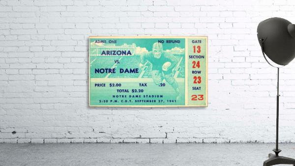 1941_College_Football_Arizona vs. Notre Dame_Notre Dame Stadium_South Bend_Row One Brand