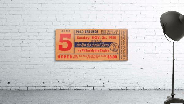 1950_National Football League_Philadelphia Eagles vs. New York Giants_Polo Grounds_NYC_Row One Brand