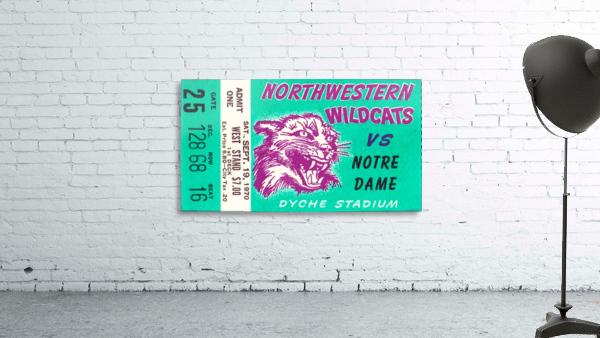 1970_College_Football_Notre Dame vs. Northwestern_Dyche Stadium_Evanston_Row One Brand