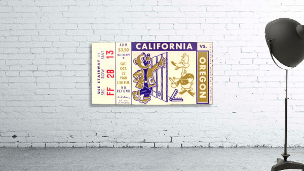 1960_College_Football_California vs. Oregon_Memorial Stadium_Row One Brand