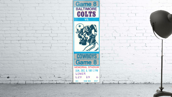 1981_National Football League_Baltimore Colts vs. Dallas Cowboys_Memorial Stadium_Baltimore_Row One