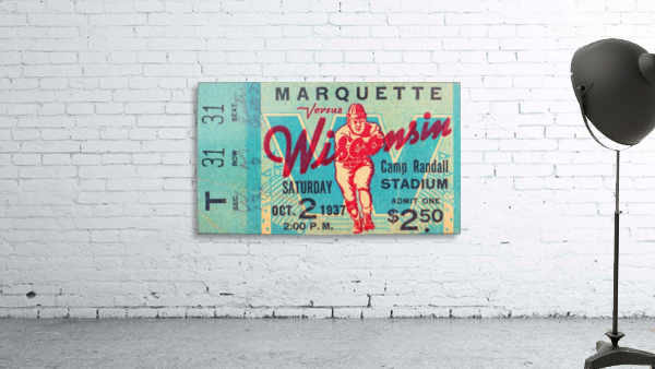 1937_College_Football_Marquette vs. Wisconsin_Camp Randall Stadium_Madison_Row One Tickets Row 1