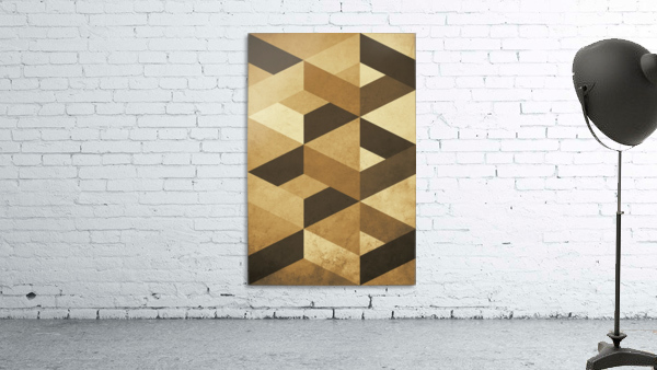 Textured Shapes 07 - Abstract Geometric Art Print