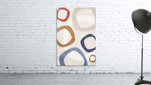 Textured Shapes 08 - Abstract Geometric Art Print