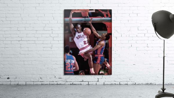 1985 Michael Jordan Dunk Wall Art Print