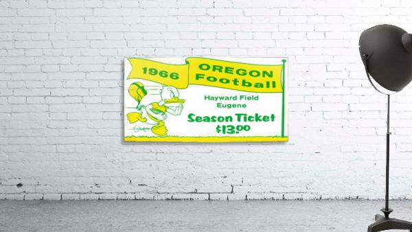 1966 Oregon Duck Season Ticket