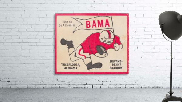1980 Bama Football Player Flag Art_Tuscaloosa Alabama_Bryant Denny Stadium_Ticket Stub Art Creations