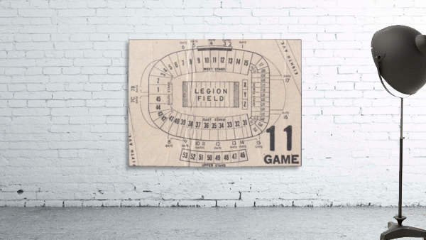 Legion Field Stadium Map Art_Vintage College Football Map Art