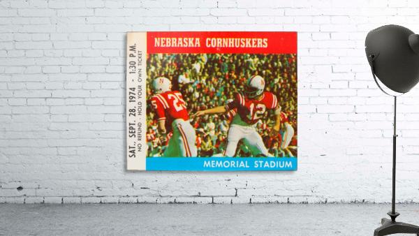 college football ticket art nebraska cornhuskers 1974 ticket stub