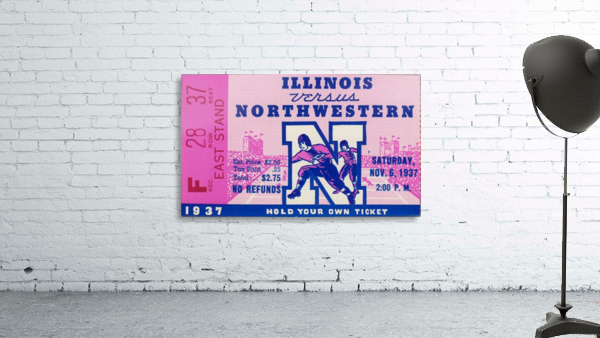 1937_College Football Collection_Northwestern vs. Illinois_Historic Dyche Stadium Evanston_Ticket