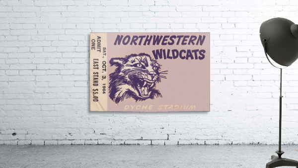 Northwestern University Wildcats College Football Wall Art Ticket Stub