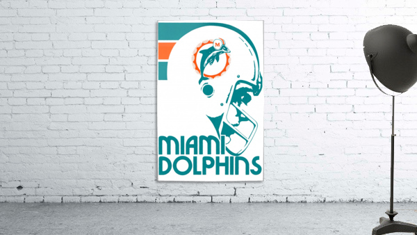 National Football League_Retro Miami Dolphins 1970s Art Reproduction
