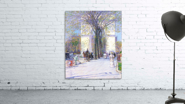 Washington triumphal arch in spring by Hassam