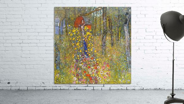 Farmers garden with crucifix by Klimt