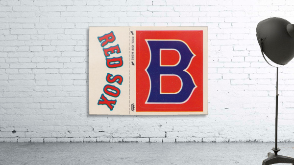 1978 Boston Red Sox Fleer Decal Reproduction 1200 DPI Scan Art by Row One™