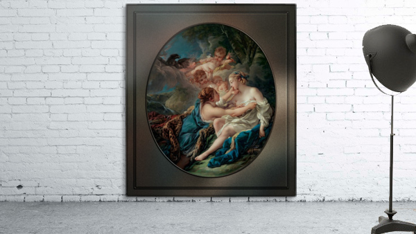 Jupiter In The Guise Of Diana And Callisto by Francois Boucher
