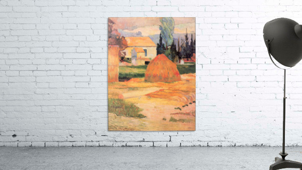 Farmhouses in Arles by Gauguin