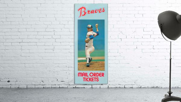 1977 Atlanta Braves Season Ticket Order Form Reproduction Baseball Art