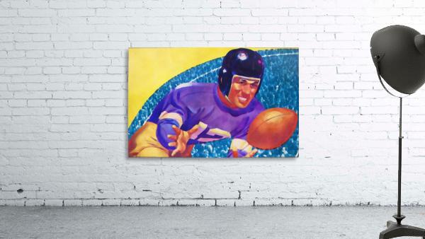 Football Art Watercolor Sports Art