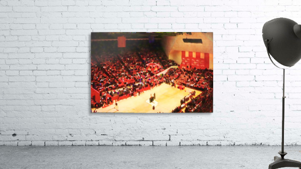 1987_College_Basketball_Indiana Hoosiers_Bloomington Assembly Hall Watercolor Basketball Art Print