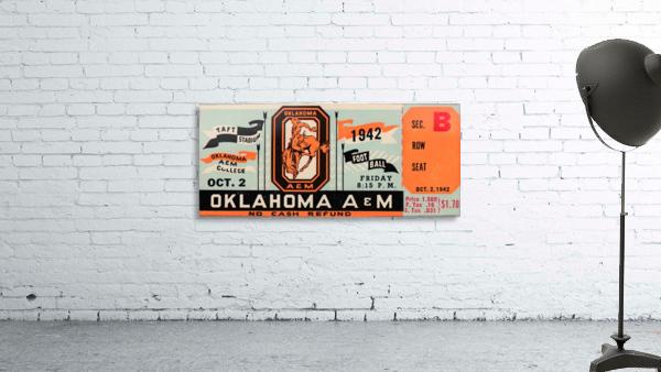 Oklahoma A&M Aggies Football Ticket Stub Art OSU Cowboys Ok State College Football Art