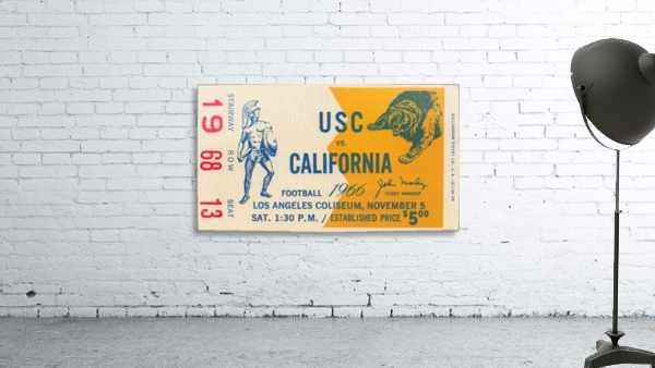 College Football Ticket Stub Collection_1966 USC vs. California Football Ticket Art Row One Brand (1)