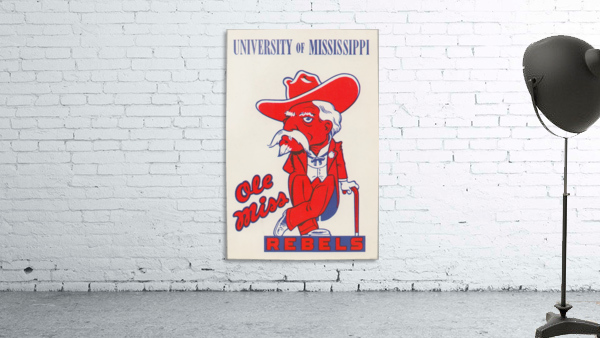 1975 College Mascot Art Reproduction University of Mississippi Ole Miss Rebels_Colonel Reb Art (1)