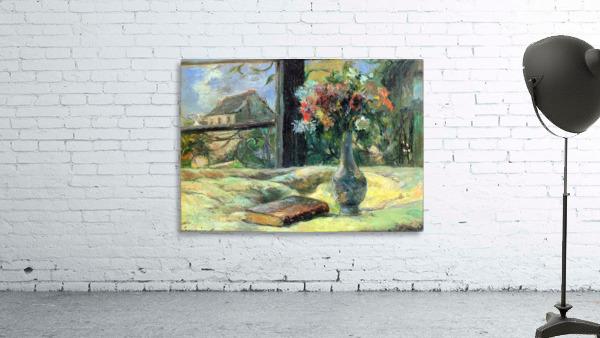 Flower Vase in Window by Gauguin