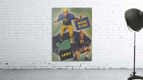 1947 Army vs. Notre Dame Football Program Cover Art_Vintage College Football Program (1)