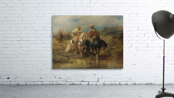 Arab horsemen raiding