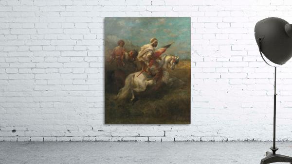 Arabs riding horses