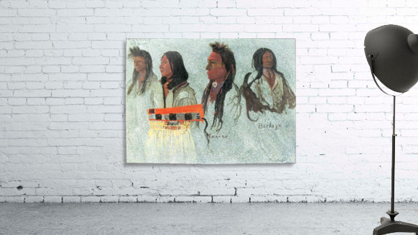 Four Indians by Bierstadt