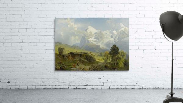 Blick von der Wengerenalp auf Eiger und Monch