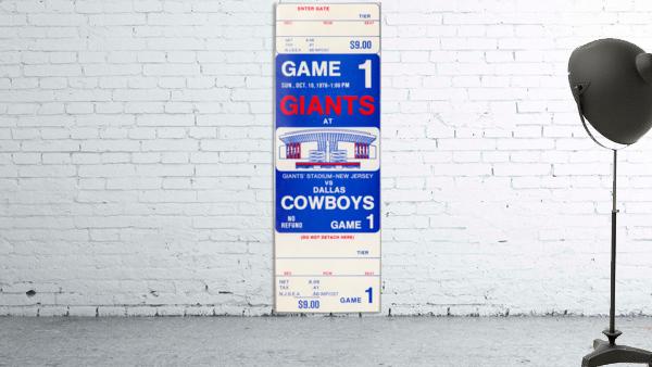 1976 dallas cowboys new york giants nfl ticket stub poster art reproduction football wall artwork