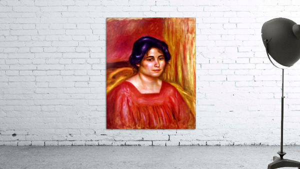 Gabrielle with red blouse by Renoir