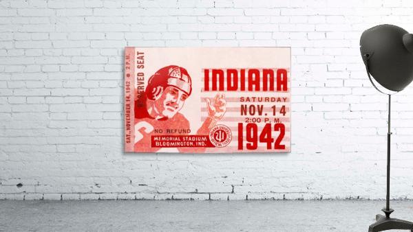 1942 Indiana Football Art
