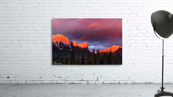 Ha Ling Mountain Range Sunrise